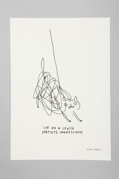 Gemma Correll For Society6 Cat On A Leash Art Print  #UrbanOutfitters