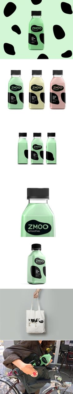 Zmoo is a Fun Take On Bottled Smoothies — The Dieline | Packaging & Branding Design & Innovation News