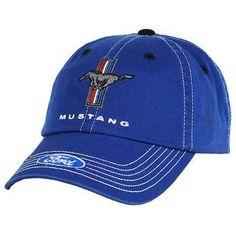 c1b2be48eee2b Ford Mustang Tri-Bar Logo Blue Hat