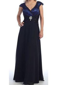 Detailed Top Evening Mother Dress Gathered Waist A-line Chiffon Long Skirt
