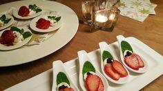 Lepeltje aardbeien caprese