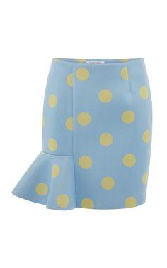 Eva Scuba Dot Skirt In Pale Blue by Vivetta for Preorder on Moda Operandi