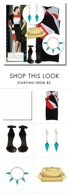 """SHOP - Pearl Collective - Earrings & Bracelet"" by pearlcollective ❤ liked on Polyvore featuring Victoria Beckham, Isabel Marant, ZAC Zac Posen, women's clothing, women's fashion, women, female, woman, misses and juniors"