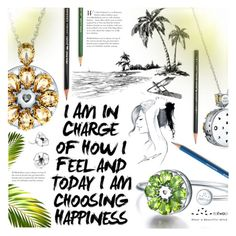 """Today I'm Choosing Happiness"" by totwoo ❤ liked on Polyvore featuring art"
