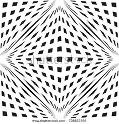Vector geometric checkered pattern. Black & white seamless texture with cubic shapes. 3D volume optical illusion effect. Modern monochrome abstract background. Pop art style. Repeat design for prints