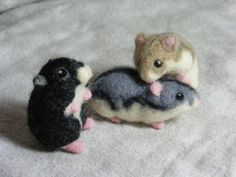 needle felted hamster~