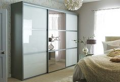 Incorporating a mirror into you wardrobe doors is a great way of incorporating a full length dressing mirror into you space. It is also a great idea for smaller spaces as it will reflect the light and make the room appear larger than it actually is.