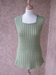Sweetgrass Top by Annette Petavy. Crochet top. 4 ply 398m/100g x 2-2.5. 3.0 mm hook. Crochet! Magazine Spring 2012. Saved to Evernote/ iBooks