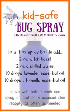 Are you ready? Warmer weather is coming and so are the BUGS! click for 10 more kid-safe bug spray recipes & FREE PRINTABLE of recipes, tips, and how-tos.