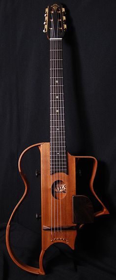 Lardy Fatboys Chordophone of the Day — AJL Guitars silent travel guitar for gypsy swing...