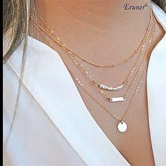 Gargantillas+Collares+de+cadena+/+Collar+con+perlas+Joyas+Diario+/+Casual+/+Deportes+Moda+Perla+/+Legierung+Plateado+1+pieza+Regalo+–+EUR+€+2.24