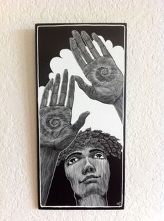 beautiful scratchboard by Michelle Dick, Kauai