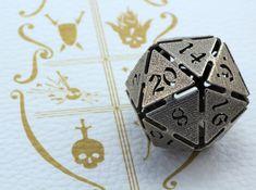 Big die 20 / d20 32mm / dice set 3d printed :-)