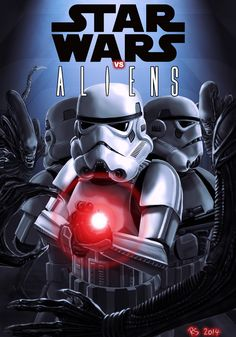 Artist Robert Shane combined the universes 'Star Wars' and 'Aliens' to create a short one-off fan comic that needs to be seen!