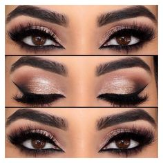 51 Ways of Applying Eyeshadow for Brown Eyes ❤ liked on Polyvore featuring beauty products, makeup, eye makeup and eyeshadow
