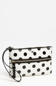 Kate Spade New York 'carlisle Street - Bee' Leather Wristlet