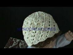 2 DE 2 COMO TEJER GORRO PARA BEBE DE 3 A 6 MESES GANCHILLO CROCHET - YouTube