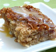 Amish Caramel Honey Bun Cake