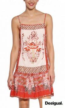 Vestido TEIDE - Desigual ¡Rebajas! Antes: 99,00 €. Ahora: 69,30€  http://www.que-mepongo.com/mujer-sc1/vestido-teide-carmin-desigual-p4187.html