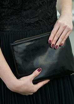 Clutch from Accessorize. See more here: http://www.kathrinerostrup.dk/2013/12/poofy-skirt/