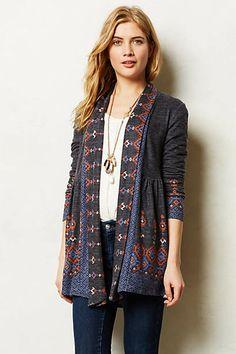 Laurette Cardigan via Anthropologie. So cute and no longer available in my size.
