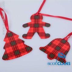 Maxwell Tartan Christmas Ornaments. Free Worldwide Shipping Available