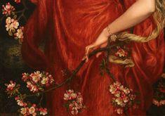 english-idylls:  Detail ofA Vision of Fiammetta by Dante Gabriel Rossetti (1878).