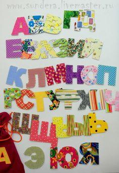 Азбука. Текстильные буквы. Алфавит. Развивающая игрушка. sundera. Подарок ребенку