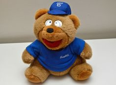 Exclusive Campbell s Soup CompanyTeddy Bear Blue Baseball Fan Large 14  Tall