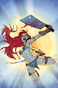 Red Sonja #7 variant cover by Amy Reeder
