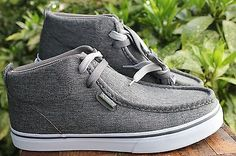 Lugz-Gray-Canvas-Chambray-Strider-Shoes-9-5
