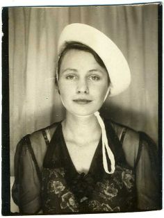 vintage photobooth: Young Woman Wearing A Hat, With A Look About Her Antique Photos, Vintage Pictures, Vintage Photographs, Old Pictures, Vintage Images, Old Photos, Beauty Advice, Beauty Hacks, Selfies