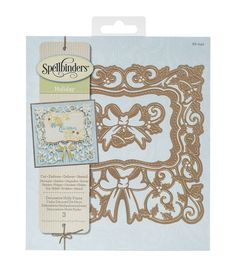 Decorate your themed craft projects using the Spellbinders Holiday Nestabilities Card Creator Die-Decorative Holly Frame. These metal dies feature enchanting Christmas themed designs including sticks,