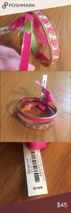 Vera Bradley Bangle Set in Lilli Bell Vera Bradley Bangle Set in Lilli Bell. NWT so cute! Vera Bradley Jewelry Bracelets