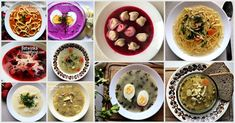 Check my review of 10 Traditional Polish Soups, soups which are the most specific to Polish cuisine. Which one have you tried and which is your favorite? Healthy Soup Recipes, My Recipes, Favorite Recipes, Clear Vegetable Soup, Beet Borscht, Sorrel Soup, Polish Soup, Mushroom Barley Soup, Spring Soups