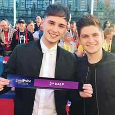 Yay guys we're performing during the 2nd half of the show on Saturday! #eurovision #eurovision2016 by joeandjakemusic #Eurovision #Eurovision2016