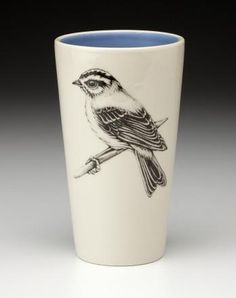 Handmade homeware collection including ceramic dinnerware, serviceware, and textiles for the home. Tea Cup Art, Tea Cups, Pretty Birds, Tumbler Cups, Pyrography, Retro, Flower Vases, Ceramic Pottery, Dinnerware