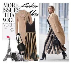 Olivia Palermo + CAMEL COAT by gabriela2105 on Polyvore featuring moda, Jimmy Choo, Rebecca Minkoff, Nearly Natural and WALL
