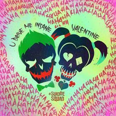 It's Valentine's Day and that best way to express your love is to show how crazy you are for that special someone. Margot Robbie (Harley Quinn) has released a V-Day themed Joker/Harley Suicide Squad poster...