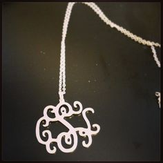 Silver Three Letter Monogram Necklace - only $35