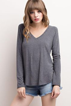 b0b59b5f4d6 Bamboo Fabric v neck top 96% bamboo V Neck Tops