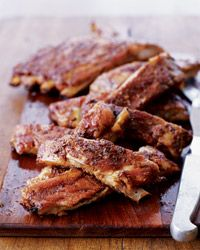 Looking for something to go with a nice Chianti?  This is one of my favorite recipes.  Your home will smell fabulous!  A Food & Wine Staff Favorite! Tuscan-Style Spareribs with Balsamic Glaze Recipe from Food & Wine