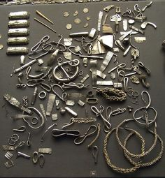 midwinter-fire:    The Cuerdale hoard, one of the largest Viking silver hoards ever found.