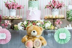 Cake + Sweets + Decor from a TeddyBear Forever Friends Birthday Party via Kara's Party Ideas KarasPartyIdeas.com (27)