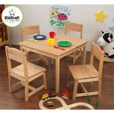 KidKraft Farmhouse Table & Chair Set KidKraft http://www.amazon.com/dp/B000IYJU36/ref=cm_sw_r_pi_dp_a0Ajub1HJJ4E6