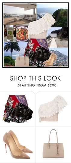 """""""Peru"""" by jeniaa ❤ liked on Polyvore featuring Guide London, Alexander McQueen, Miguelina, Christian Louboutin and Michael Kors"""