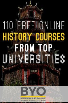 110 Free Online History Courses from Top Universities - History is a fascinating subject to study. Online Education Websites, Free Education, Educational Websites, Free College Courses, Free Courses, Online Courses With Certificates, Top Universities, Colleges, Continuing Education