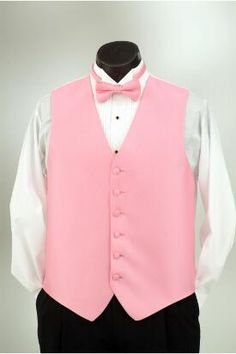 Passion Pink vest and matching bow tie at Tuxedo Junction