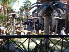 Sammy G's Tuscan Grill - View from the upper deck of the patio. Palm Springs