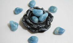 Tumbled Blue Aquamarine - Stone of Courage & Protection, FB1214